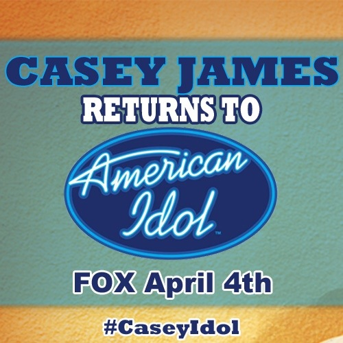 Casey James Returns To American Idol April 4th.